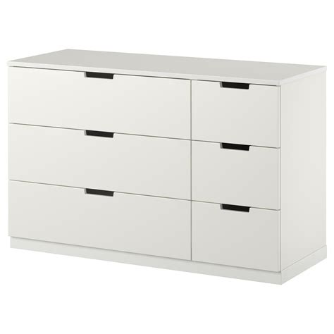 kommode 100 x 50 nordli chest of 6 drawers white 120x75 cm ikea