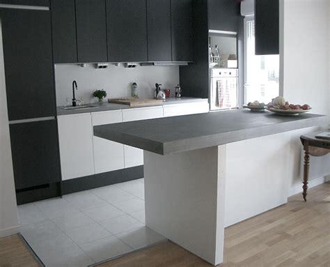 bar plan de travail cuisine taporo eau feu bar de cuisine en beton massif ductal