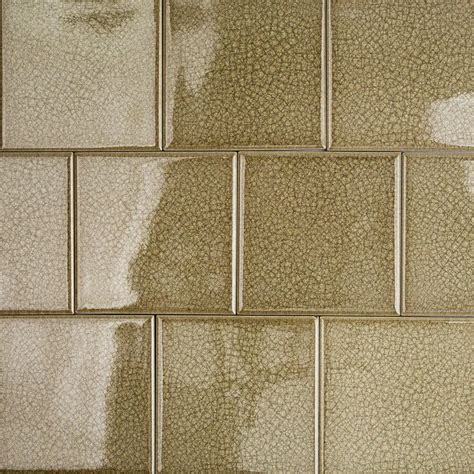 Peel And Stick Mosaic Tile Roman Collection Spanish Olive 4x4 Glass Tile