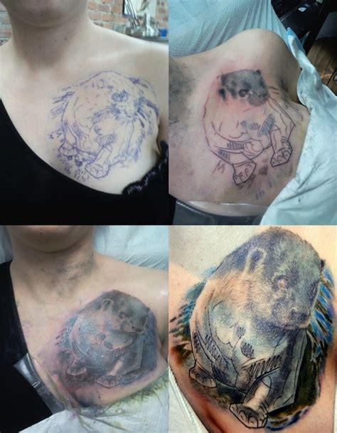 my otter tattoo chest piece step by step still needs