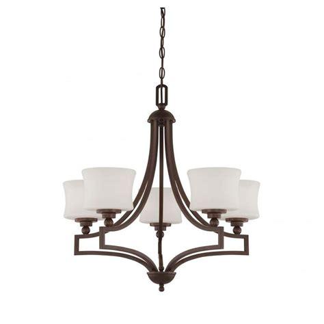 Filament Design Proleg 5 Light English Bronze Chandelier Filament Chandelier