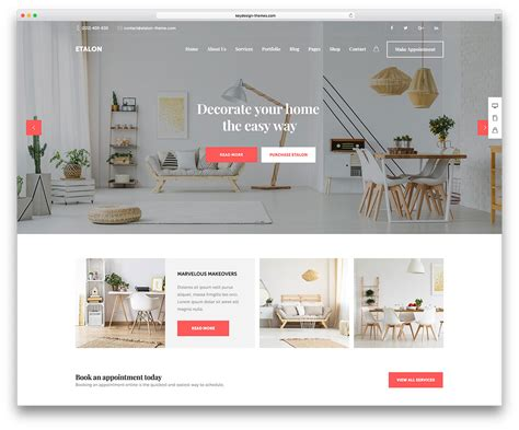 home decor online sites 40 interior design wordpress themes that will boost your