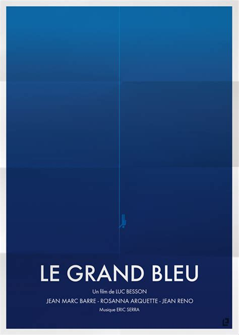 le grand bleu film movie posters in minimalist style