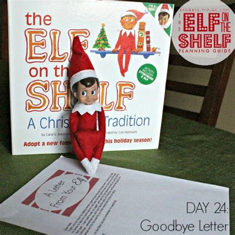On The Shelf Letter Goodbye by 25 Day On The Shelf Planning Guide Fabulessly Frugal