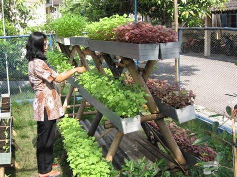 membuat kebun hidroponik di rumah 34 ide kreatif berkebun vertikal sederhana dan murah di