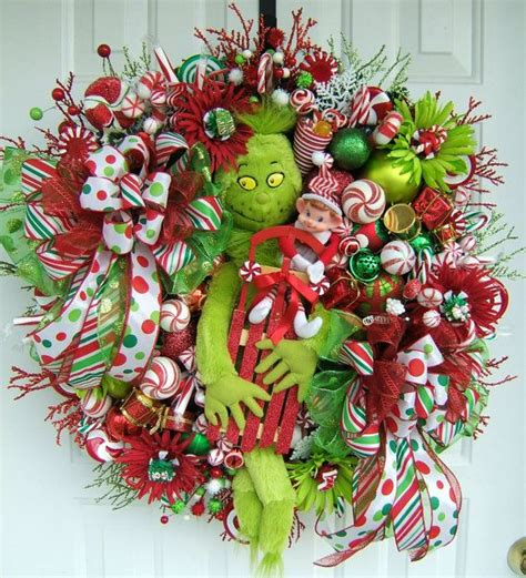 images of unique christmas wreaths grinch wreath christmas wreath holiday wreath door