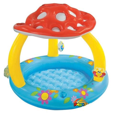 intex mushroom inflatable baby pool     ages