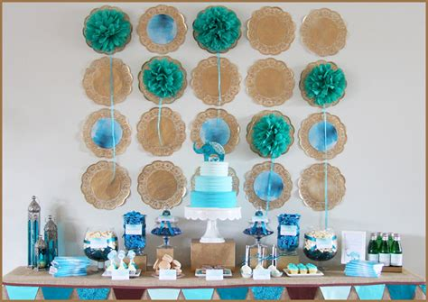 simple baby boy shower ideas how to set baby shower themes
