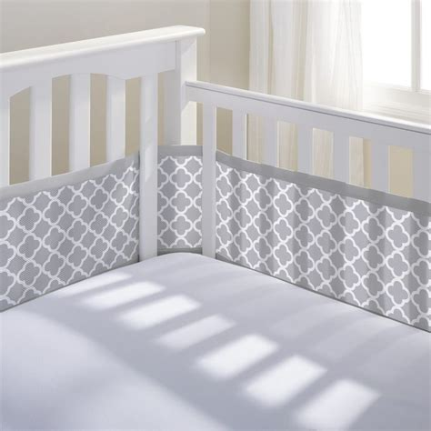 Mesh Crib Cover by Breathable Baby Mesh Crib Liner Gray Clover A Safe