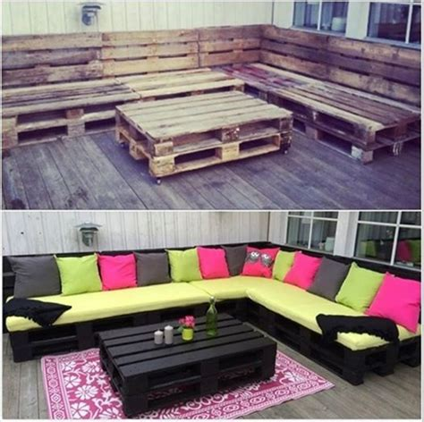 50 Wonderful Pallet Furniture Ideas And Tutorials How To Make Patio Furniture Out Of Pallets