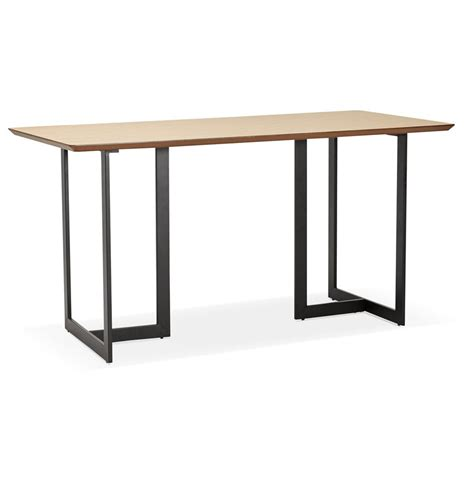 table bureau table design titus en bois naturel bureau moderne 150x70 cm