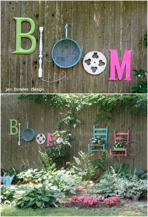 diy outdoor projects  lovely fence decorating ideas