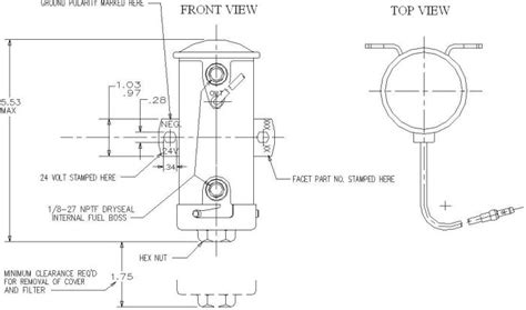 fuel pumps   facet cylindrical solid state fuel pump roberts son