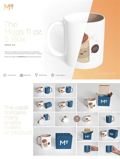 40 Free Product Packaging Mockup Psd Templates Graphiceat Coffee Mug Box Template