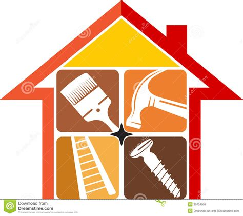 home repair logo stock vector image 39724005
