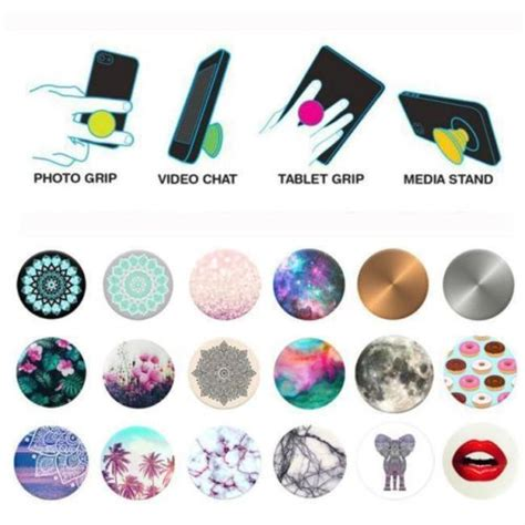 Popsocket Motif Random cool popsockets phone holder expanding stand grip pop