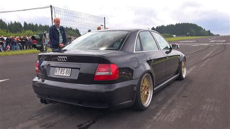 audi b5 s4 1000hp audi s4 b5 anti lag sound flames accelerations