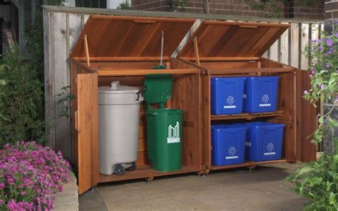 outdoor kitchen storage solutions garbage can storage ideas woodworking projects plans