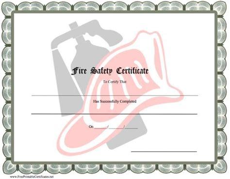 Fire Certificate Template
