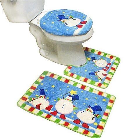 christmas bathroom rug sets