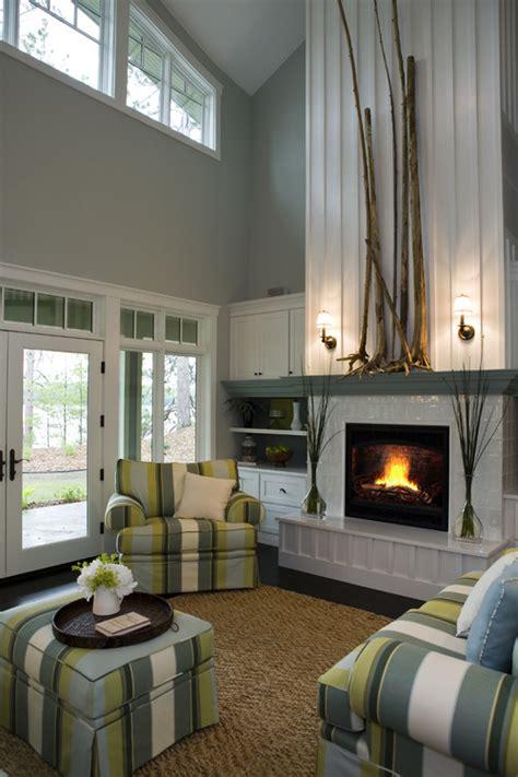 modern earth design   decorate  tall fireplace wall