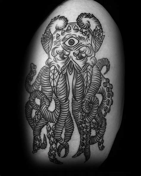 70 cthulhu tattoo designs for men masculine ink ideas