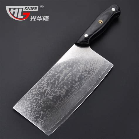 Vg10 Kitchen Knives by Japanese Vg10 Damascus Cleaver Cutter 7 2 Inch Chopping