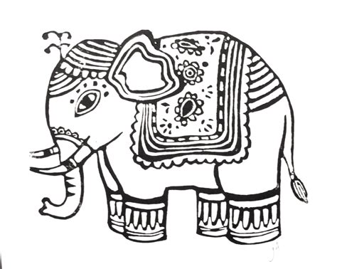 thai elephant coloring page thai elephant drawing www imgkid com the image kid has it
