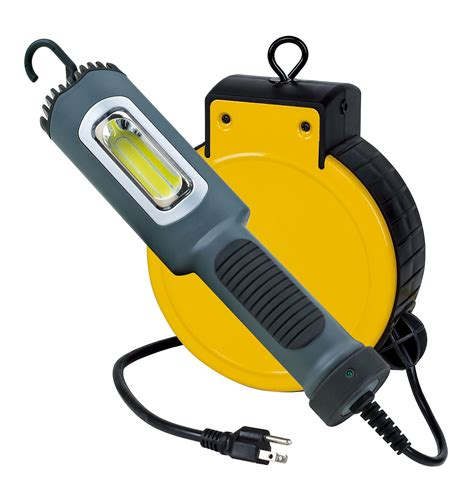 retractable led work light 5 watt cob led cord reel task light 3230cl5