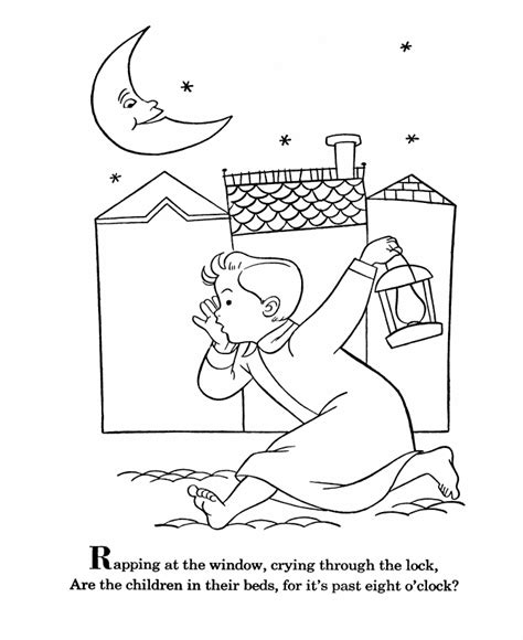 Nursery Rhymes Coloring Page Coloring Home Nursery Coloring Pages