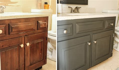 wooden painting bathroom vanity before and after jessica