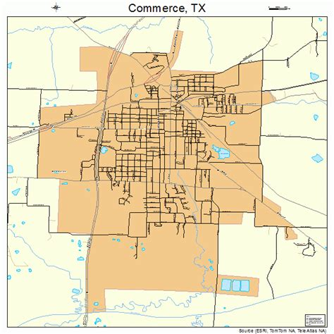 commerce texas map commerce texas map 4816240