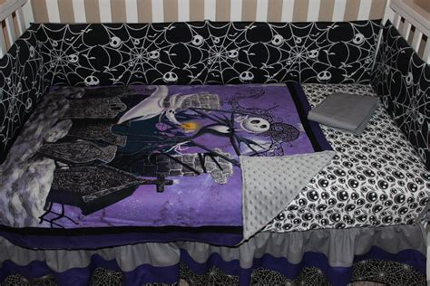 crib bedding set jack skellington nightmare before
