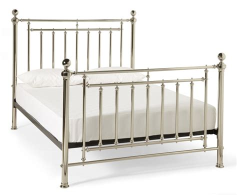 metal bed frame king size serene solomon 6ft super king size nickel metal bed frame