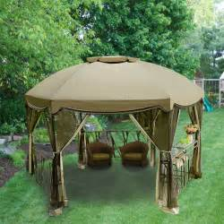 Lowes Patio Gazebo Garden Oasis Grandview Hexagon Replacement Canopy Garden Winds