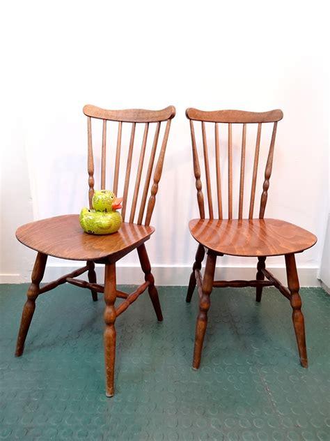 chaise scandinave vintage 2 chaises design scandinave vintage brocnshop