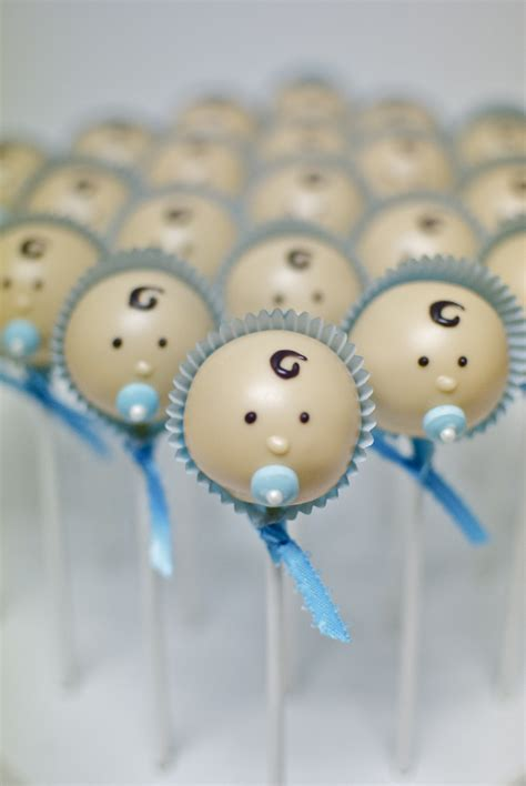Baby Boy Baby Shower Cake Pops by Baby Shower Cake Pops