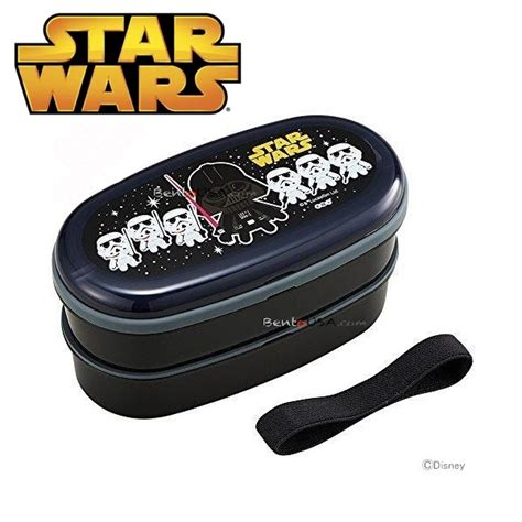 wars 2 tier bento lunch box set with chopsticks