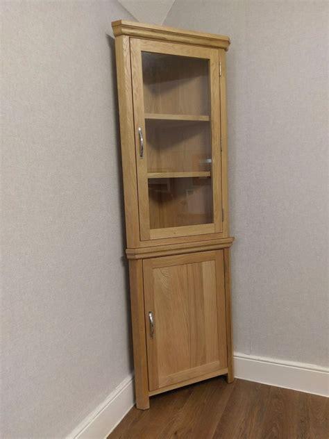 how to a corner cabinet light oak corner display cabinet corner cupboard