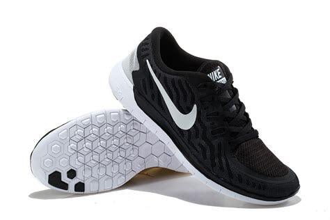nike white and black running shoes and nike free 5 0 ii flyknit running shoes