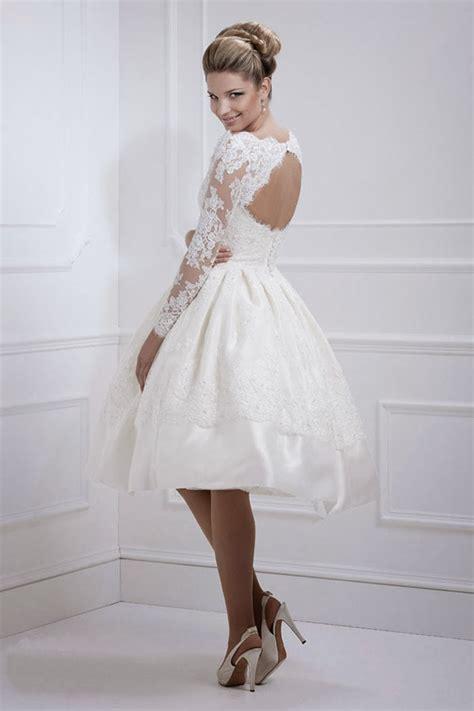 Kurzes Brautkleid Spitze by Vintage Lace Wedding Dresses Ipunya