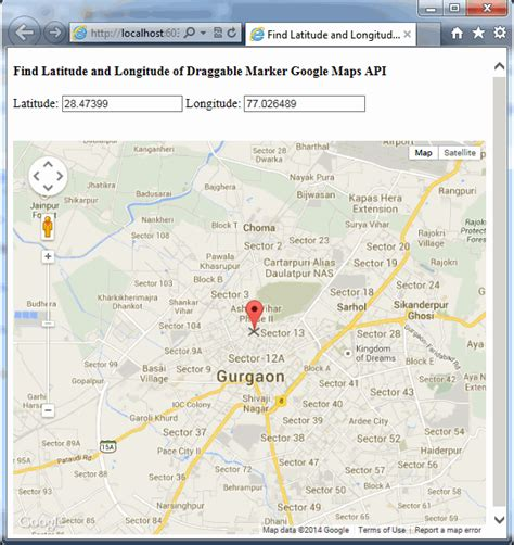 Maps Api Address Search Find Latitude And Longitude Of Draggable Marker Maps Api