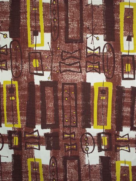 modern mid century modern atomic barkcloth fabric