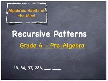 recursive pattern exles grade 6 19 best images about teaching algebra to children in