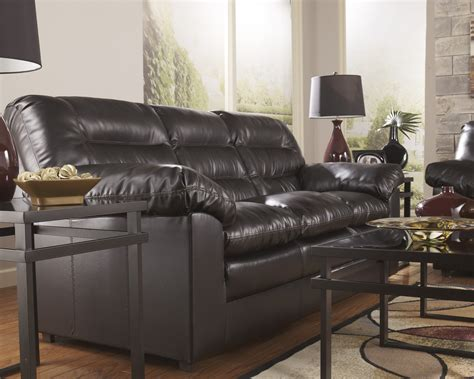 leather sectional sofa ashley furniture durablend knox coffee leather sofa by ashley furniture