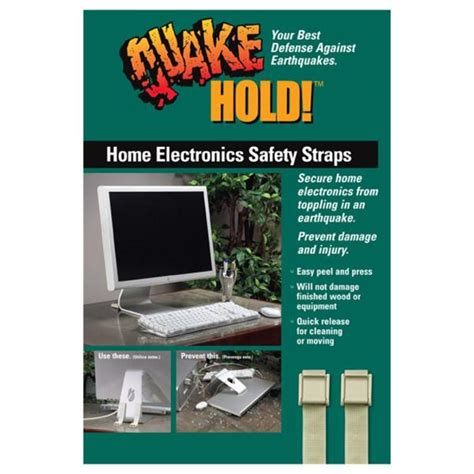 quakehold multi  electronic safety straps beige