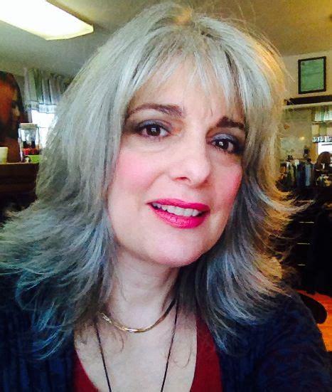 flippy layered medium length hair gray hair layered flippy shag pretty hair pinterest