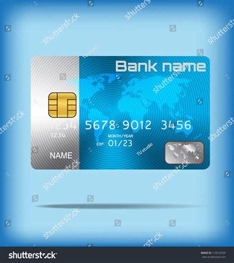smart card design template metal credit card smart card template stock vector