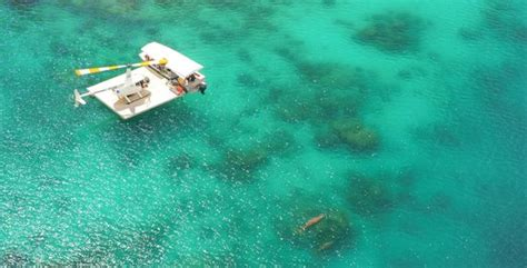 glass bottom boat vanuatu this is how we do it glass bottom boat to the helicopter