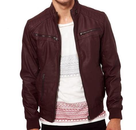 Apparel Lab Bomber Jacket Maroon 2 maroon color ban collar bomber biker leather on luulla